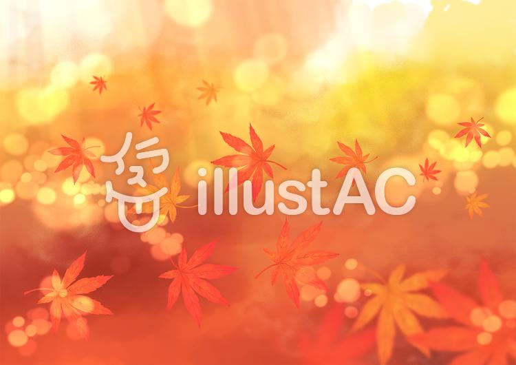 背景キラキラ紅葉秋のイラスト