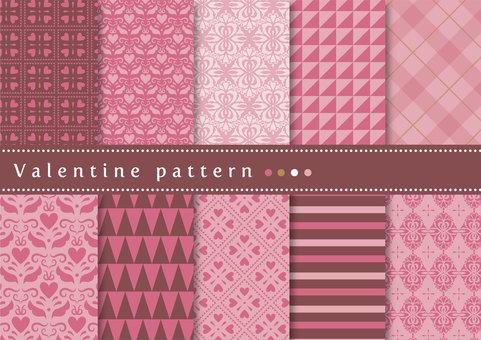 패턴 세트 030 발렌타인