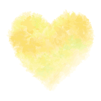 A watercolor-like heart type / yellow type