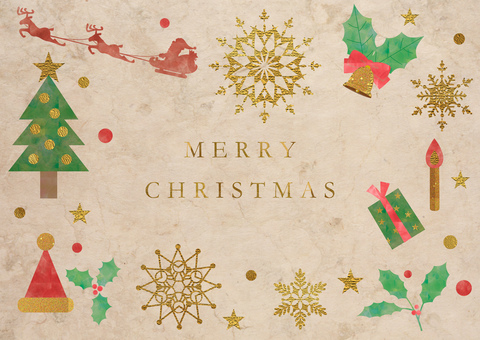 Christmas decorations_used paper background 2391
