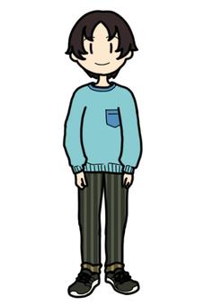Boy wearing long sleeves