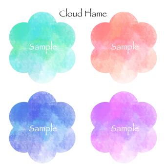 Cloud watercolor frame