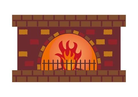 暖炉 イラスト
