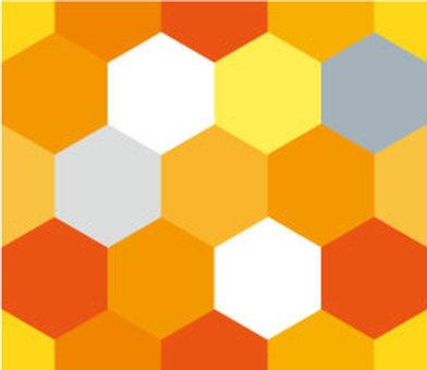 육각형의 벽지 (오렌지 계열)