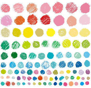 Handwriting colorful icon material set Spring / Summer decoration