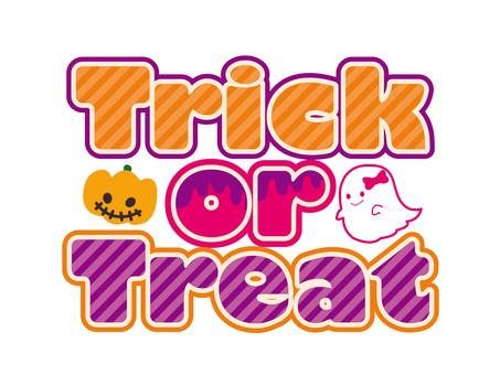 Halloween trick or treat logo