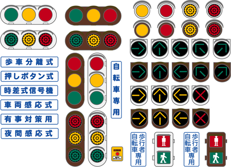 Signal illustration set