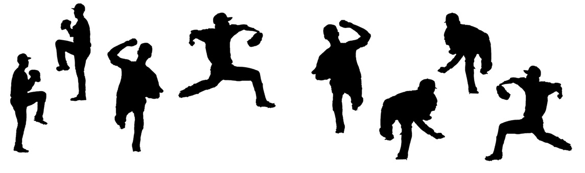 Pitcher silhouette set