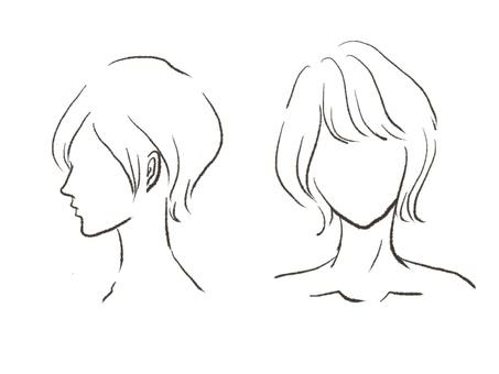 Hair style illustration