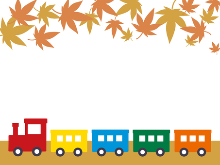 Train and autumn leaves