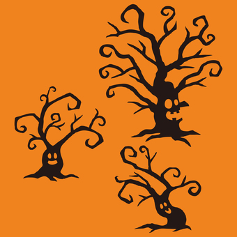 Tree with Halloween face