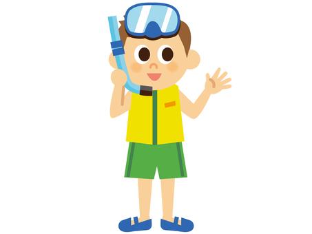 People _ Boy _ bathing suit _ 1