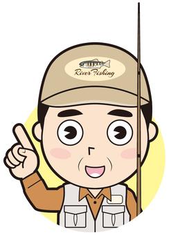 Finger insertion male river fishing master (commentary)