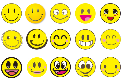 Assorted smiley marks
