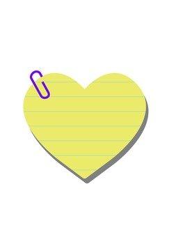 Heart memo (with clip)
