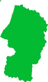 Yamagata prefecture _ Silhouette _ green