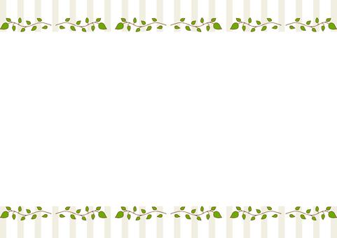 Leaf frame stripe background