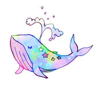 Yumekawa fairy tale whale