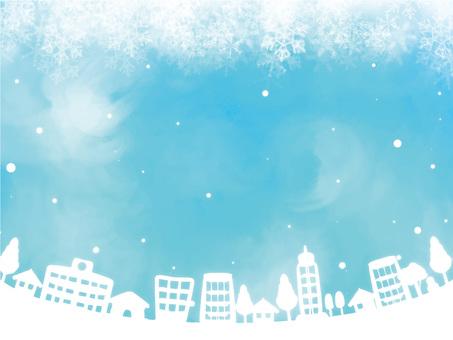 Winter snow scene frame 5