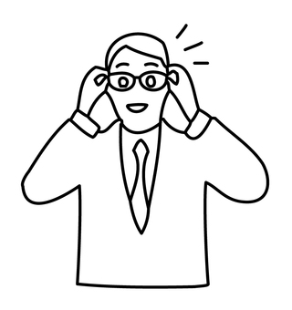 Glasses businessman 1-1