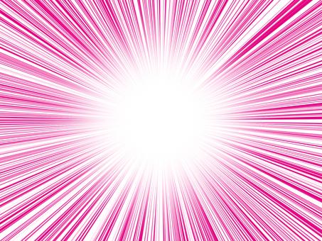 Concentration line pink cartoon