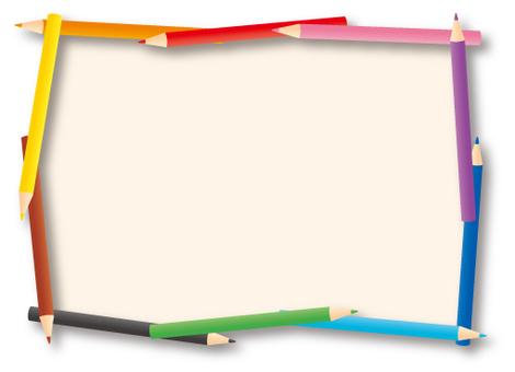 Background frame color pencil