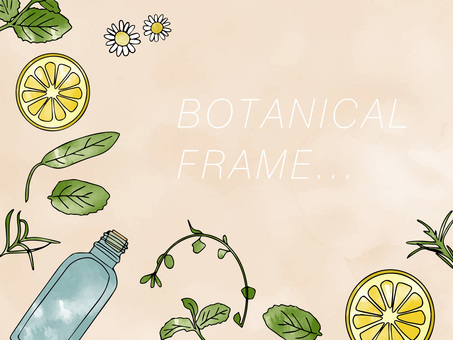 Botanical frame watercolor
