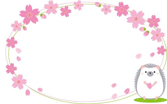 Frame cherry tree (hedgehog)