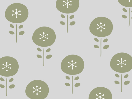 Nordic floral simple wallpaper pattern 02