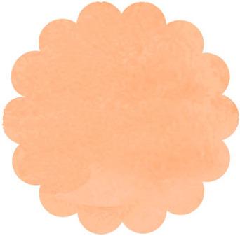 水彩花卉幀橙色