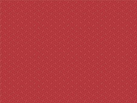 The background of Saaya pattern (scarlet color)