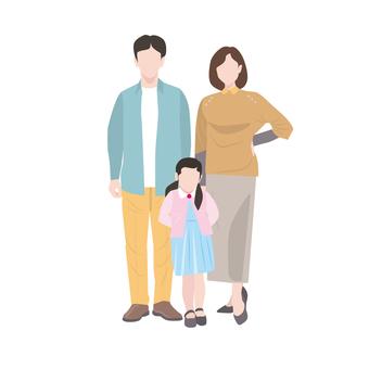 3 person family