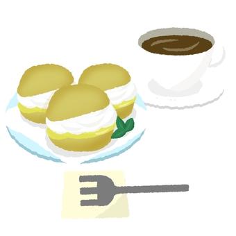 Coffee cream set
