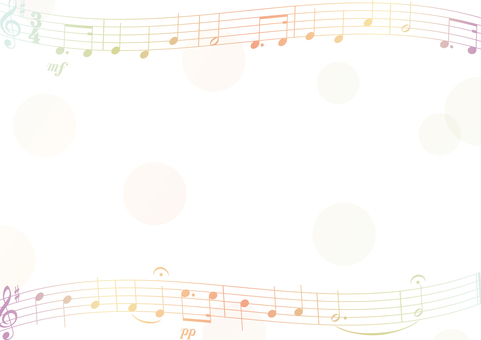 Music score and dot frame