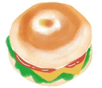 Bagel sandwich cheese tomato