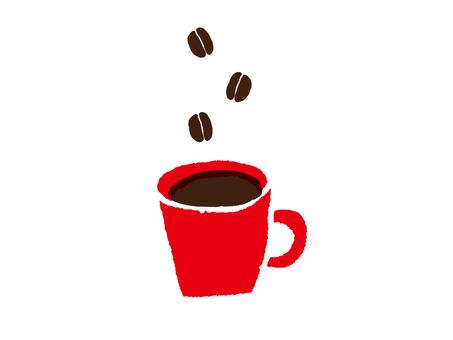 Coffee red mug