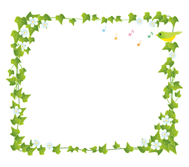 Green ivy leaf frame