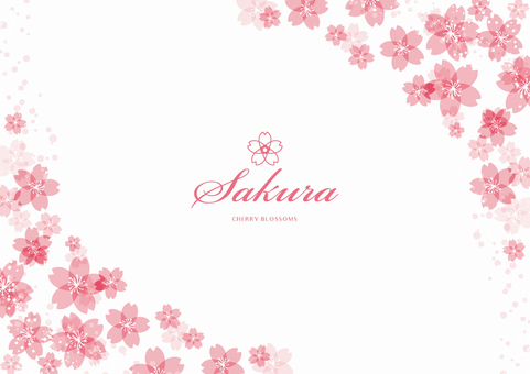 Spring background frame 006 Sakura White