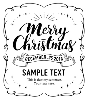 Christmas card lettering characters