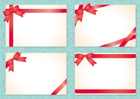 Frame with ribbon (red)
