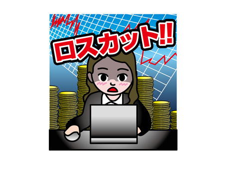 FX investment loss cut (2) young female office worker