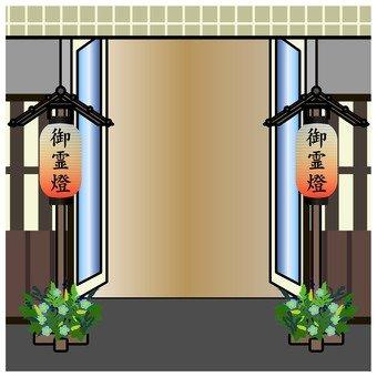 入口處的葬禮會場