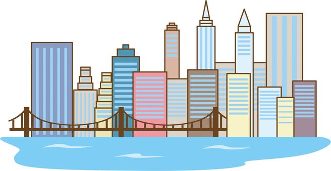 맨하탄 빌딩 이미지
