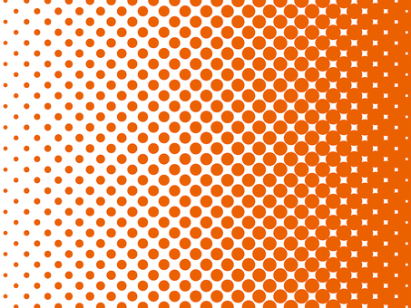 Color halftone background material (orange)