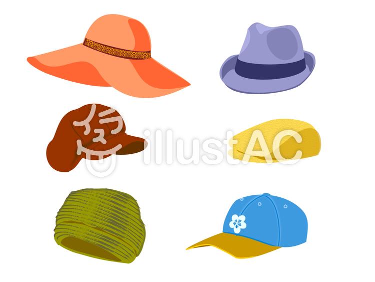 秋冬帽子のイラスト