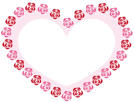 Rose and heart photo frame