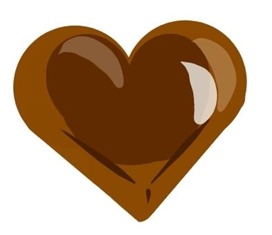 Heart chocolate