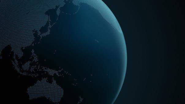 Earth dot map Asia 2 dark