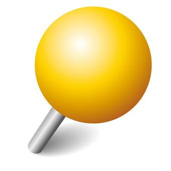 Push pin yellow