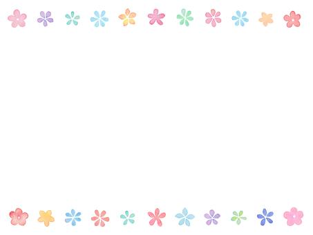 Water color flower frame D 2